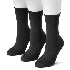 Women's SONOMA Goods for Life™ 3-pk. Soft & Comfortable Roll Top Crew Socks