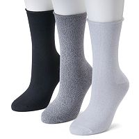Women's SONOMA Goods for Life™ 3 pkSoft & Comfortable Roll Top Crew Socks