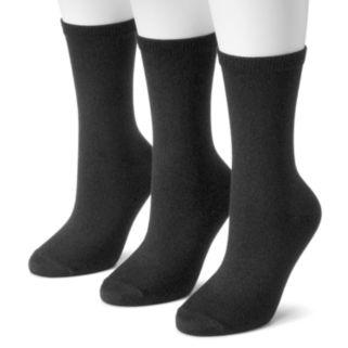 Women's SONOMA Goods for Life™ 3-pk. Soft & Comfortable Crew Socks
