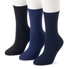 Women's SONOMA Goods for Life™ 3-pk. Soft & Comfortable Crew Socks