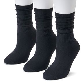 Women's SONOMA Goods for Life? 3-pk. Soft & Comfortable Slouchy Boyfriend Socks