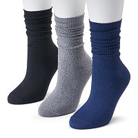 Women's SONOMA Goods for Life™ 3-pk. Soft & Comfortable Slouchy Boyfriend Socks