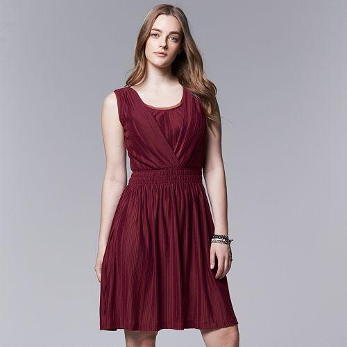 Plus Size Simply Vera Vera Wang Smocked Empire Dress