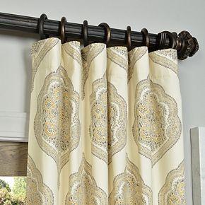 EFF 1-Panel Arabesque Window Curtain