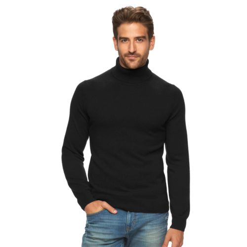 Mens Marc Anthony Slim Fit Solid Cashmere Turtleneck Sweater