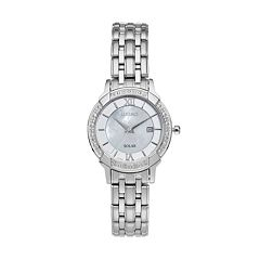 Seiko Women's Core Diamond Stainless Steel Solar Watch - SUT277
