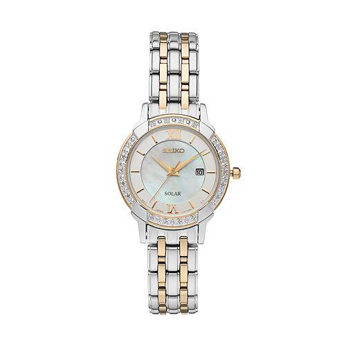 Seiko Women's Core Diamond Stainless Steel Solar Watch