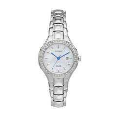 Seiko Women's Core Crystal Stainless Steel Solar Watch - SUT281