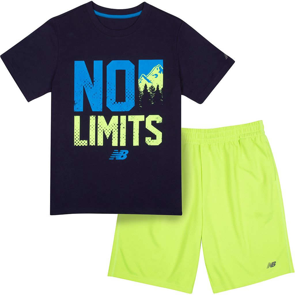 Boys 4-7 New Balance Slogan Sports Tee & Shorts Set