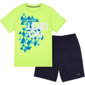 Boys 4-7 New Balance Slogan Sports Tee & Shorts Set