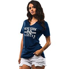 Women's Majestic New York Yankees One Game at a Time Tee