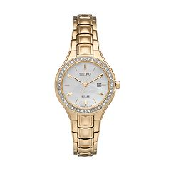 Seiko Women's Core Crystal Stainless Steel Solar Watch
