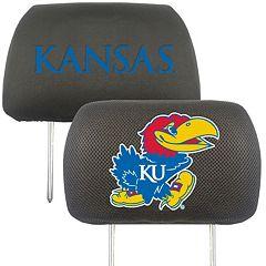 FANMATS Kansas Jayhawks 2 pc Head Rest Covers
