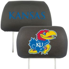 FANMATS Kansas Jayhawks 2-pc. Head Rest Covers