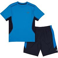 Boys 4-7 New Balance Colorblocked Performance Tee & Shorts Set