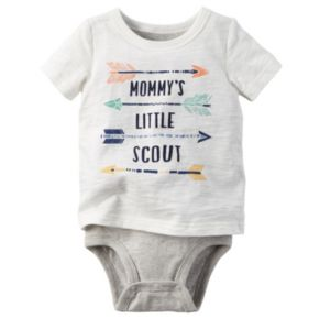 Baby Boy Carter's Graphic Mock-Layer Bodysuit
