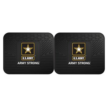 FANMATS United States Army 2-Pack Utility Backseat Car Mats