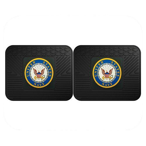 FANMATS United States Navy 2-Pack Utility Backseat Car Mats