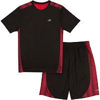 Boys 4-7 New Balance Abstract Striped Performance Tee & Shorts Set