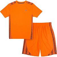 Boys 4-7 New Balance Abstract Striped Performance Tee & Shorts Set