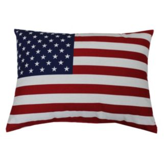 Celebrate Americana Together Flag Indoor Outdoor Throw Pillow