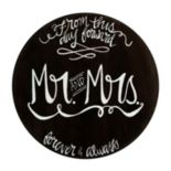 "Glory Haus ""Mr. and Mrs."" Circle Wall Decor"