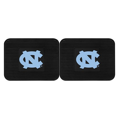 FANMATS North Carolina Tar Heels 2-Pack Utility Backseat Car Mats