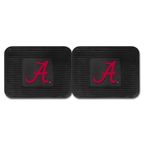 FANMATS Alabama Crimson Tide 2-Pack Utility Backseat Car Mats