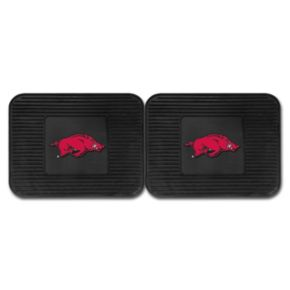 FANMATS Arkansas Razorbacks 2-Pack Utility Backseat Car Mats