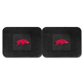 FANMATS Arkansas Razorbacks 2-Pack Utility Backseat Car Mats