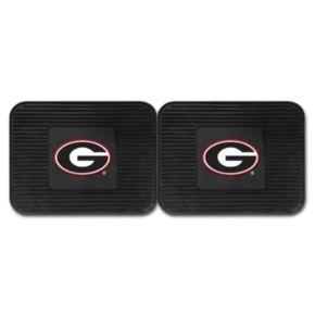 FANMATS Georgia Bulldogs 2-Pack Utility Backseat Car Mats