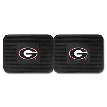 FANMATS Georgia Bulldogs 2-Pack Utility Backseat Car Mats