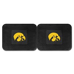 FANMATS Iowa Hawkeyes 2-Pack Utility Backseat Car Mats