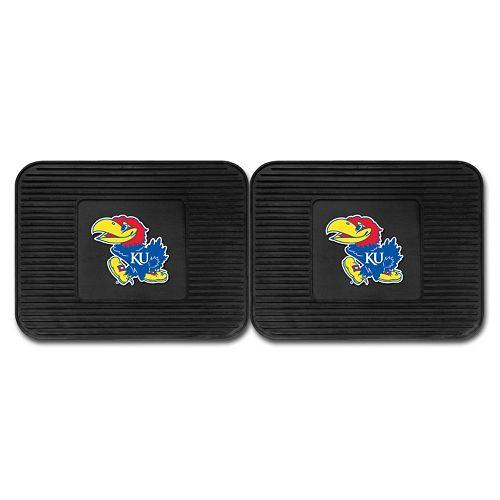 FANMATS Kansas Jayhawks 2-Pack Utility Backseat Car Mats