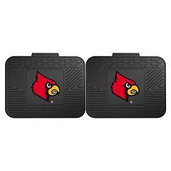 FANMATS Louisville Cardinals 2-Pack Utility Backseat Car Mats