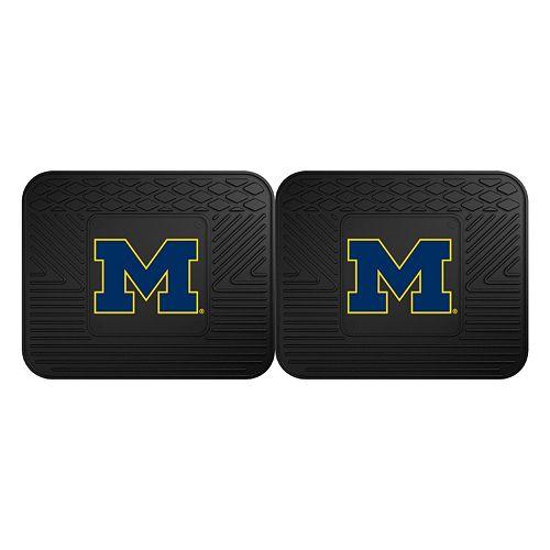 FANMATS Michigan Wolverines 2-Pack Utility Backseat Car Mats