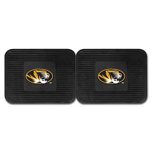 FANMATS Missouri Tigers 2-Pack Utility Backseat Car Mats