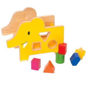 giggle Wood Elephant Shape Sorter