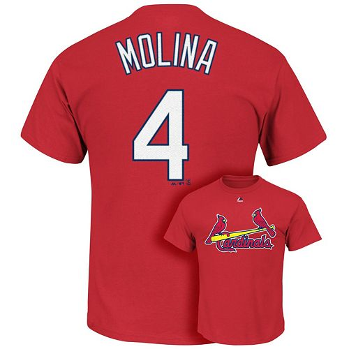 Big & Tall Majestic St. Louis Cardinals Dustin Pedrioa Player Name and Number Tee Tee