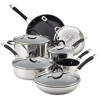 Circulon Momentum 11-pc. Stainless Steel Nonstick Cookware Set