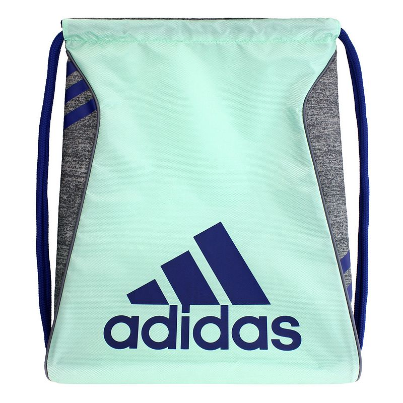 Adidas Burst Drawstring Backpack, Green Durability meets hassle-free portability in this convenient Adidas Burst sackpack. Reliable construction for long-lasting use Reversible design Durable polyester corded straps Large main compartment Easy cinch opening 18 H x 14.25 W Polyester Drawstring Manufacturer's lifetime limited warrantyFor warranty information please click here Model Numbers Shock pink black white: 5140233 University red black: 5140234 Black silver: 5140236 Bold blue black: 5140238 Size: One Size. Color: Green.