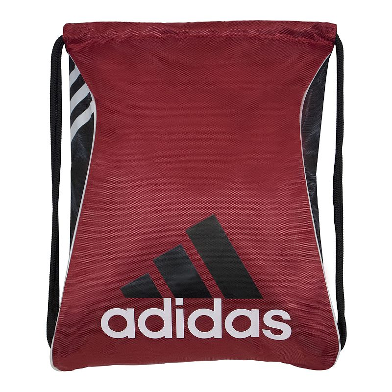 Adidas Burst Drawstring Backpack, Red Durability meets hassle-free portability in this convenient Adidas Burst sackpack. Reliable construction for long-lasting use Reversible design Durable polyester corded straps Large main compartment Easy cinch opening 18 H x 14.25 W Polyester Drawstring Manufacturer's lifetime limited warrantyFor warranty information please click here Model Numbers Shock pink black white: 5140233 University red black: 5140234 Black silver: 5140236 Bold blue black: 5140238 Size: One Size. Gender: Unisex.