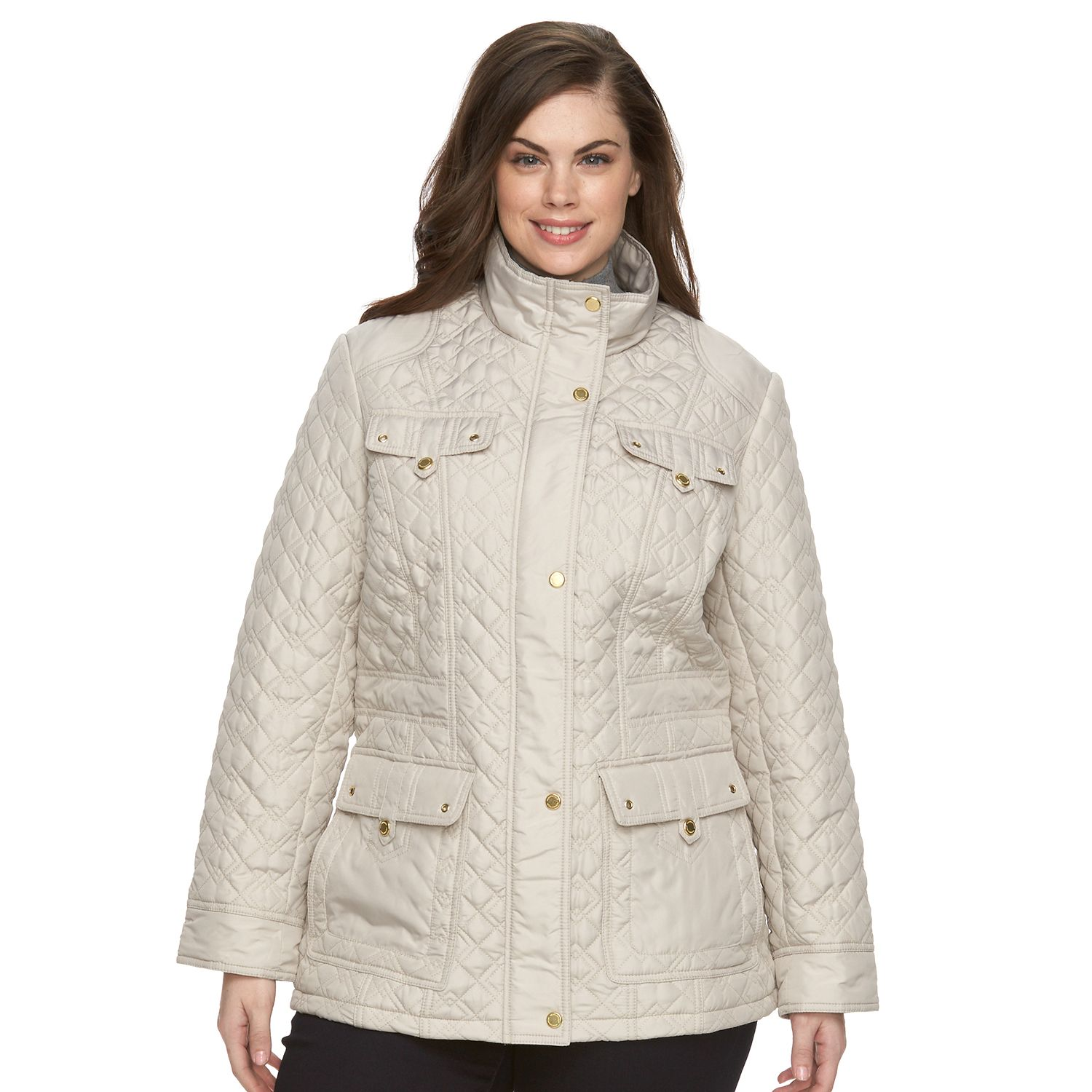 Plus Size Weathercast Modern Quilted Jacket