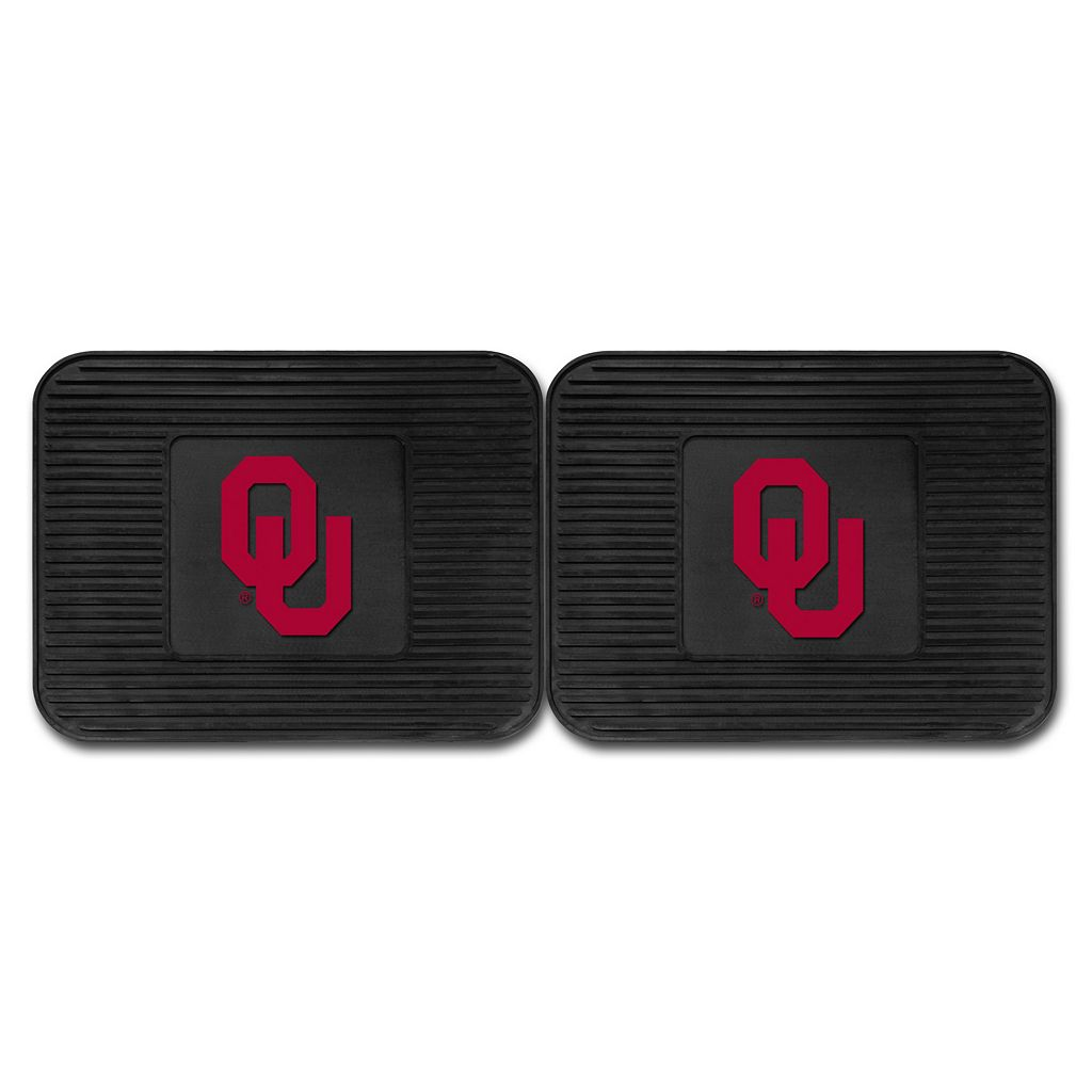 FANMATS Oklahoma Sooners 2-Pack Utility Backseat Car Mats