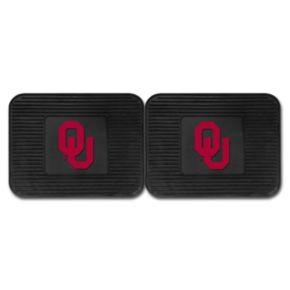 FANMATS Oklahoma Sooners 2-Pack Utility Backseat Car Mats