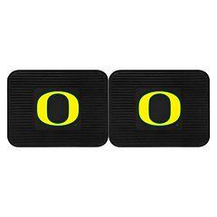 FANMATS Oregon Ducks 2-Pack Utility Backseat Car Mats