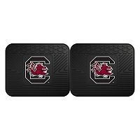 FANMATS South Carolina Gamecocks 2-Pack Utility Backseat Car Mats