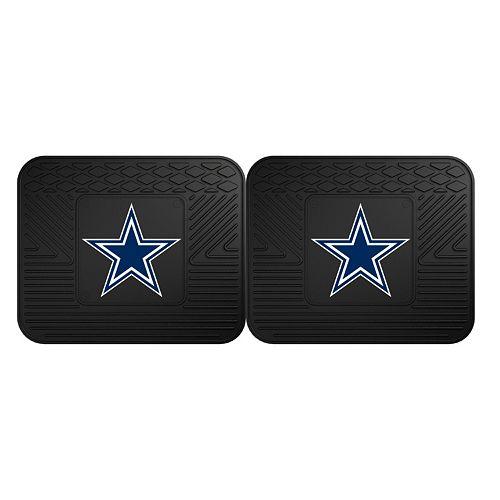 FANMATS Dallas Cowboys 2-Pack Utility Backseat Car Mats