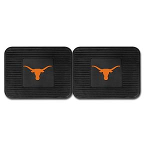 FANMATS Texas Longhorns 2-Pack Utility Backseat Car Mats