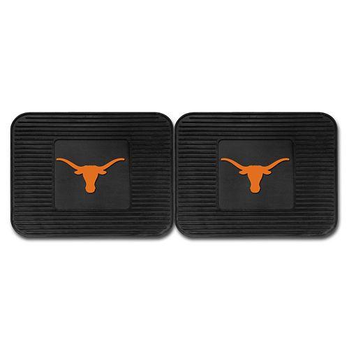 FANMATS Texas Longhorns 2-Pack Utility Backseat Car Mats